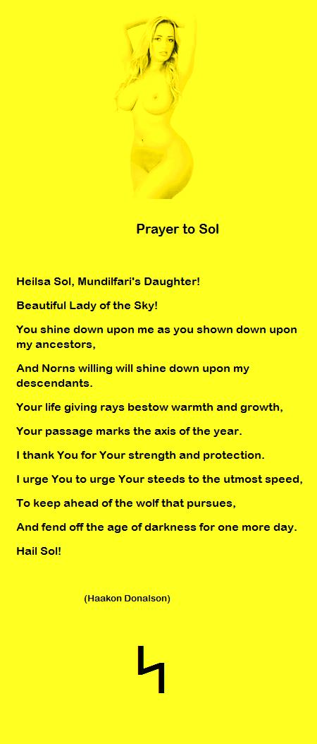 prayer to sol